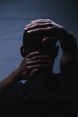 Matilda Delves BLACK MAN WITH HANDS TOUCHING HEAD Men