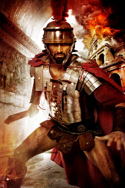 Nik Keevil ROMAN SOLDIER FIGHTING BY BURNING COLOSSEUM Men