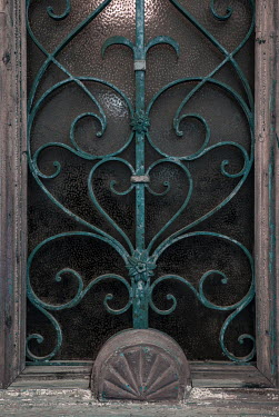 Jaroslaw Blaminsky WROUGHT IRON GRILL IN OLD BUILDING Building Detail