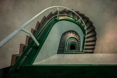 Jaroslaw Blaminsky EMPTY MODERN STAIRCASE FROM ABOVE Stairs/Steps