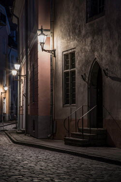 Jaroslaw Blaminsky EMPTY STREET IN HISTORICAL TOWN AT NIGHT Streets/Alleys