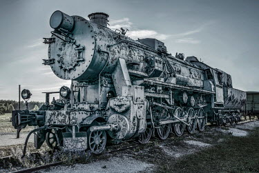 Jaroslaw Blaminsky DECAYING LOCOMOTIVE TRAIN OUTDOORS Railways/Trains