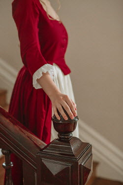 Shelley Richmond HISTORICAL WOMAN STANDING ON STAIRCASE Women