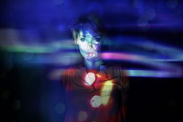 Elisabeth Mochner Portrait of woman under surreal light