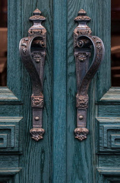 Jaroslaw Blaminsky Ornate handles of blue doors