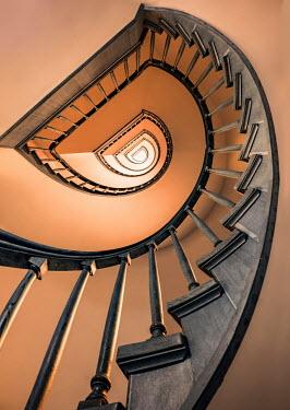 Jaroslaw Blaminsky Spiral staircase from below