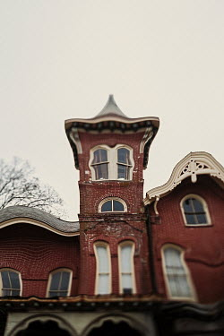 Lisa Bonowicz Warped brick house from below