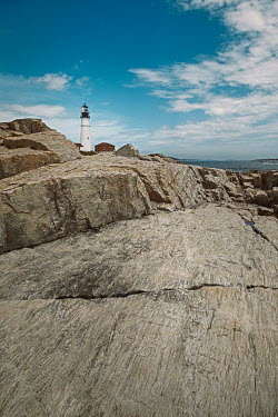 Lisa Bonowicz Lighthouse and rocks in Portland, USA