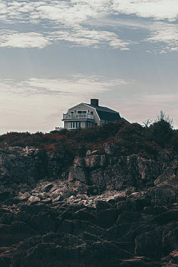 Lisa Bonowicz House and rocks in Maine, USA