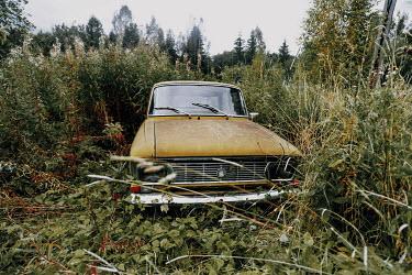 Rafael Sanchez Garcia Vintage car in field