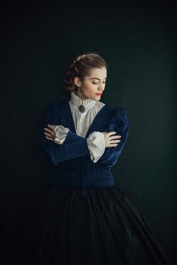 Ildiko Neer Victorian woman in blue coat