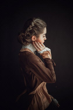 Ildiko Neer Victorian woman in brown dress