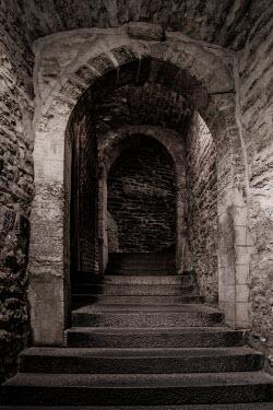 Jaroslaw Blaminsky Steps and stone wall at castle