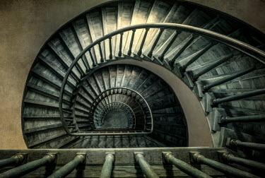 Jaroslaw Blaminsky Spiral staircase from above