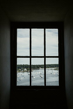 Lisa Bonowicz Harbor through window