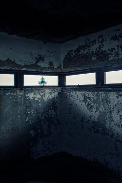 Lisa Bonowicz Lighthouse through bunker window