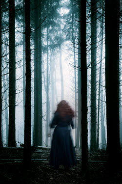 Carmen Spitznagel WOMAN WITH RED HAIR IN FOREST Women