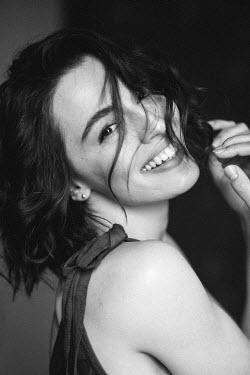 Marta Syrko SMILING WOMAN WITH DARK HAIR Women