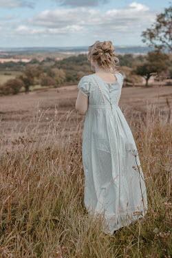 Shelley Richmond BLONDE REGENCY WOMAN STANDING IN COUNTRYSIDE Women