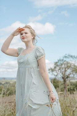 Shelley Richmond BLONDE REGENCY WOMAN IN COUNTRYSIDE WATCHING Women