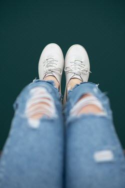 Mohamad Itani FEMALE LEGS AND FEET WITH JEANS AND PUMPS Women