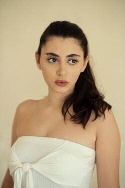 Mohamad Itani GIRL WITH DARK HAIR IN SLEEVELESS TOP Women