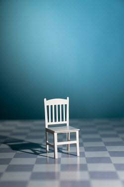 Peter Chadwick MINIATURE CHAIR WITH CHEQUERED FLOOR Miscellaneous Objects