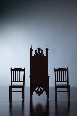 Peter Chadwick MINIATURE CHAIRS AND THRONE IN SHADOW Miscellaneous Objects