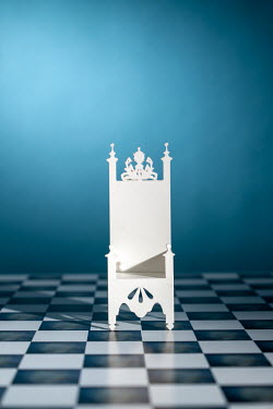 Peter Chadwick MINIATURE THRONE ON CHEQUERED FLOOR Miscellaneous Objects