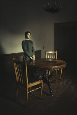 Dorota Gorecka WOMAN STANDING IN HOUSE WITH FURNITURE Women