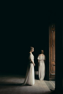 Dorota Gorecka TWO WOMEN IN LARGE DARK HOUSE Women