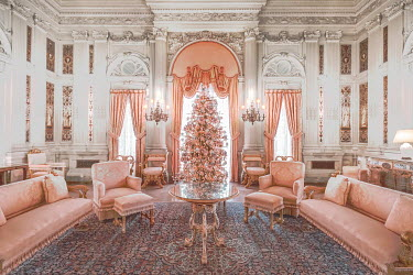 Evelina Kremsdorf ORNATE SITTING ROOM OF GRAND HOUSE Interiors/Rooms