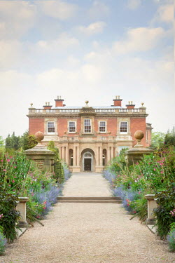 Lee Avison GRAND HOUSE WITH GARDENS IN SUMMER Houses