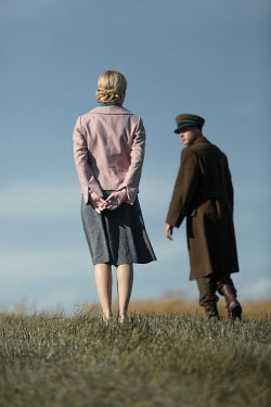 Magdalena Russocka wartime couple standing in field