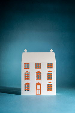 Peter Chadwick MODEL HOUSE WITH ORANGE WINDOWS Miscellaneous Objects