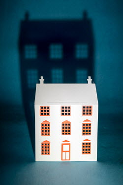 Peter Chadwick MINIATURE MODEL HOUSE WITH SHADOW Miscellaneous Objects