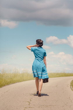 Joanna Czogala WOMAN ON COUNTRY ROAD IN SUMMER Women