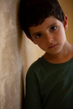 Mohamad Itani SAD LITTLE BOY WITH BROWN HAIR Children