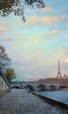 Drunaa Bridge and River Seine in Paris, France