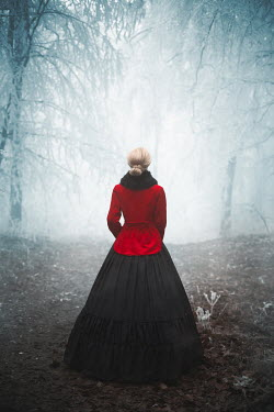 Ildiko Neer Historical woman standing in wintry forest