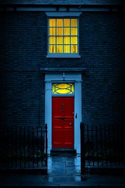Magdalena Russocka illuminated entrance to old house at night