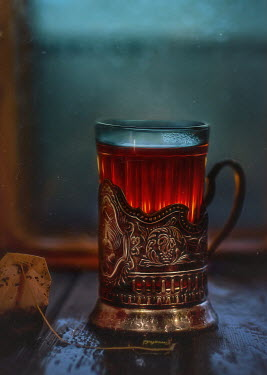 Andreeva Svoboda GLASS OF TEA WITH ORNATE SILVER Miscellaneous Objects