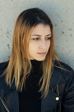 Mohamad Itani WOMAN IN LEATHER JACKET OUTDOORS Women
