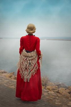 Ildiko Neer Historical woman standing by lake