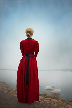Ildiko Neer Historical woman standing by lake