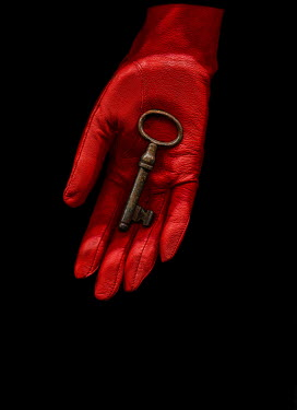 Magdalena Wasiczek Woman's red glove with key