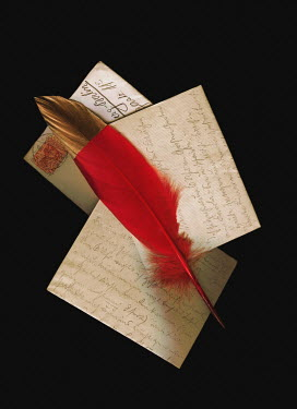 Magdalena Wasiczek Red quill on envelopes