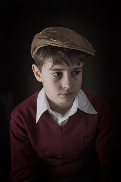 Galya Ivanova SERIOUS YOUNG BOY IN CAP Children