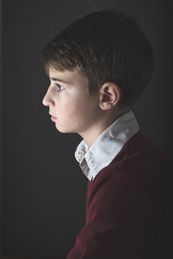 Galya Ivanova SERIOUS YOUNG BOY IN PROFILE Children