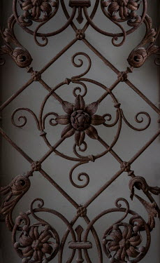Jaroslaw Blaminsky RUSTY ORNATE WROUGHT IRON GRILL Building Detail